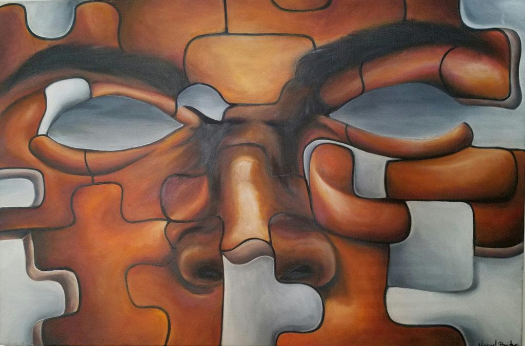 "Pieces of Me 36x24"""
