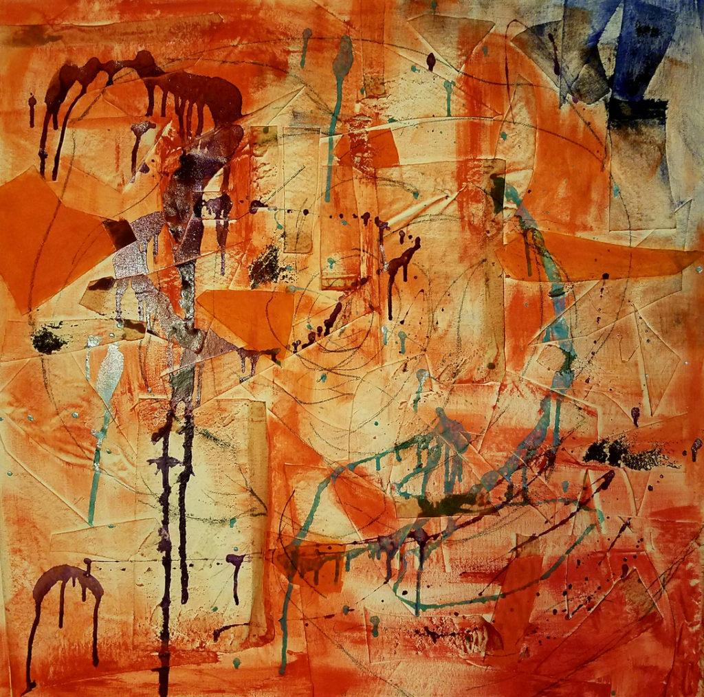 "Project Orange 36x36"""